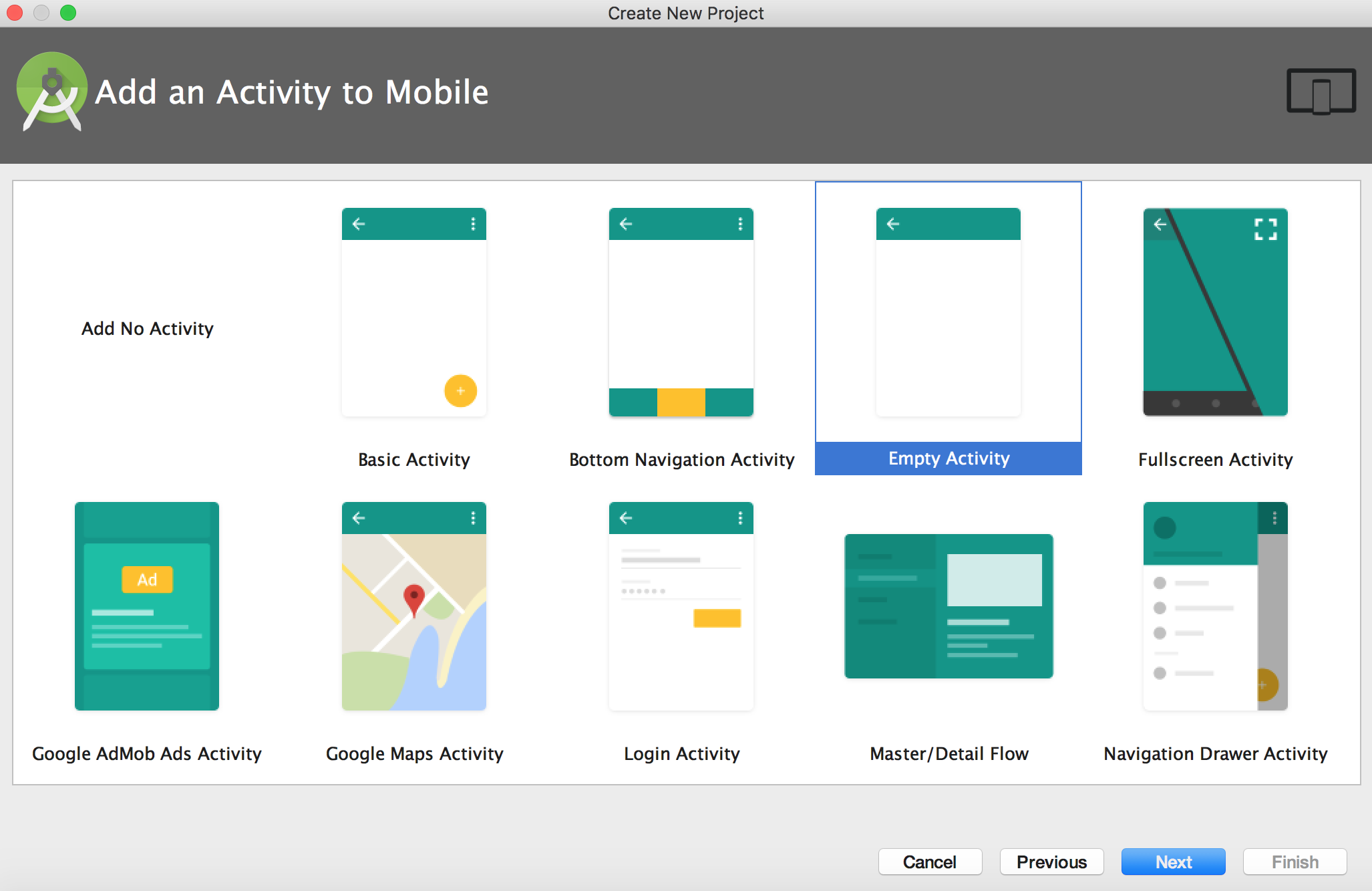 Add Blank Activity in Android Studio