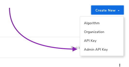 Creating an admin API key