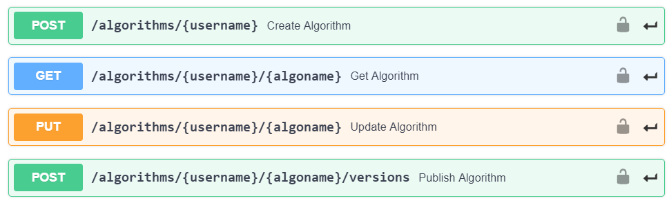Release Notes algorithmia management APIs