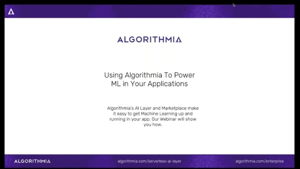 Using Algorithmia to Power Machine Learning