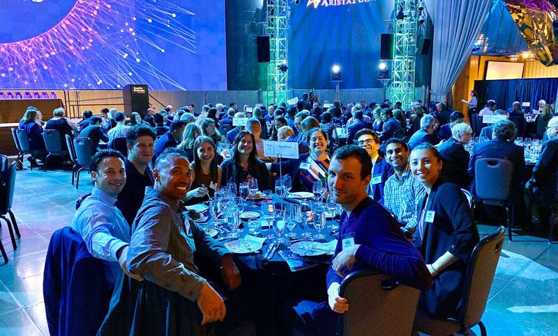 Algorithmia team accepting AI Tech Impact Award
