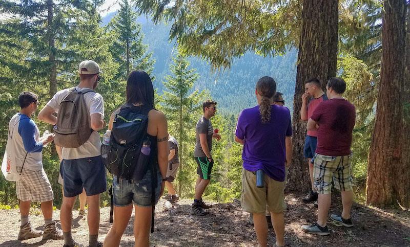Algorithmia team on a hike